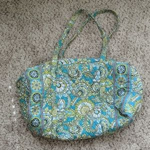 Vera Bradley Travel Duffle Bag Peacock Teal Green